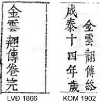 Bản khắc LVĐ và KOM